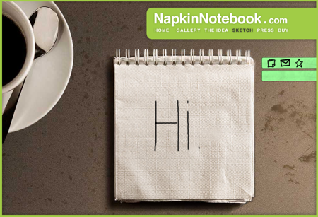 napkin notebook