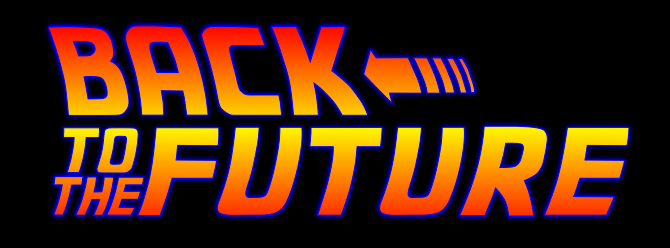 back to the future logo in CSS3